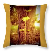 Maple Branch Growing From Trunk Throw Pillow