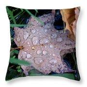 Maple Dew Throw Pillow