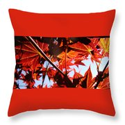Maple Fire Throw Pillow