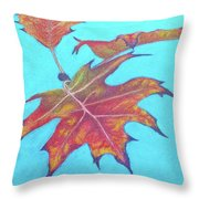 Drifting Into Fall Throw Pillow by Phyllis Howard