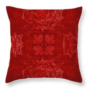 Maple Leaf Filigree Tiled Pattern Throw Pillow