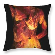 Maple Leaves Throw Pillow by Arla Patch