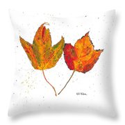 Fall Maple Leaves Throw Pillow