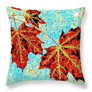 Maple Mania 13 Throw Pillow