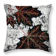 Maple Mania 17 Throw Pillow