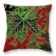 Maple Mania 7 Throw Pillow