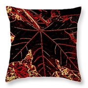 Maple Mania 9 Throw Pillow