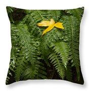 Maple On Fern Throw Pillow