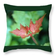 Maple Red And Green Throw Pillow