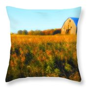 Maple Ridge Fall Barn Throw Pillow
