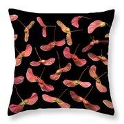 Maple Tree Seeds Throw Pillow