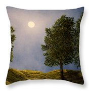 Maples In Moonlight Throw Pillow
