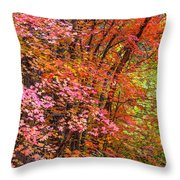 Maples In Pink Throw Pillow