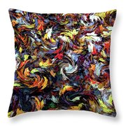 Maples In The Wind Throw Pillow