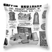 Mappin Brothers Ad, 1895 Throw Pillow