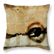 Mapping The Mountains Mixed Media Throw Pillow