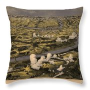Maps Birds Eye View Of The Seat Of War Around Richmond Showing The Battle Of Chickahominy River Throw Pillow