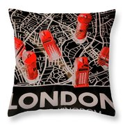 Maps From London Town Throw Pillow
