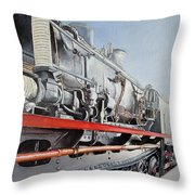 Maquina De Vapor Throw Pillow