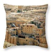 Mar Saba Throw Pillow