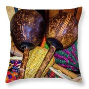 Marraca Throw Pillow