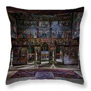 Maramures Romania Church Interior Throw Pillow