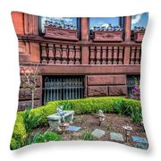 Marathon Sneakers In The Flower Box Throw Pillow
