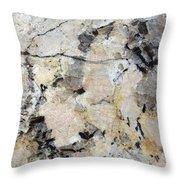 Marble Tan Black Throw Pillow