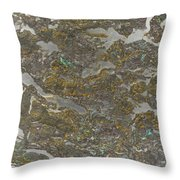 Marble Bark Colored Abstract Throw Pillow