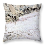 Marble Black Tan Pink Throw Pillow