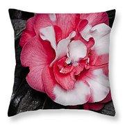 Marble Camellia Throw Pillow
