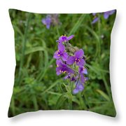 Marble Falls Texas Purple Puzzle Throw Pillow