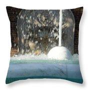 Marble Fountain Shower Throw Pillow