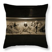 Marble Last Supper Throw Pillow