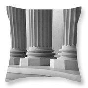 Marble Pillars Building Detail. 3d Illustration Throw Pillow