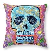 Marble Skull  Throw Pillow