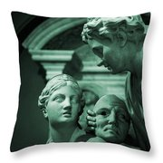 Marble Statue Catus 1 No. 2 H B Throw Pillow