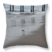 Marbled Gotwit By Mike-hope Throw Pillow