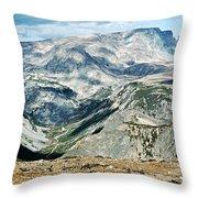 Marbled Mountains Throw Pillow