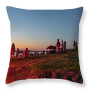 Marblehead Harbor Illumination 2017 Chandler Hovey Lights Lighthouse Throw Pillow