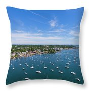 Marblehead Harbor Throw Pillow