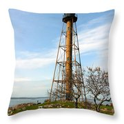 Marblehead Light Throw Pillow by Michelle Wiarda