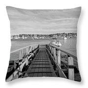 Marblehead Massachusetts Dock Throw Pillow