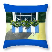 Marblehead Planter Box Throw Pillow