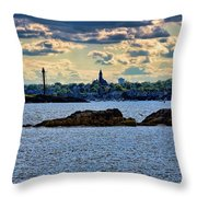 Marblehead Points To The Ocean Throw Pillow