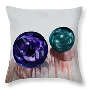 Marbles Of My Reflection Throw Pillow