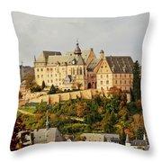 Marburg Castle Germany H B Throw Pillow