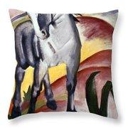 Marc: Grey Horse, 1911 Throw Pillow