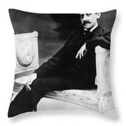 Marcel Proust, French Author Throw Pillow