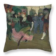 "Marcelle Lender Dancing The Bolero In ""chilp?ric"" Throw Pillow"
